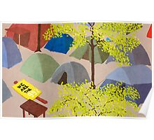 Sunrise in Zuccotti Park - OWS Poster