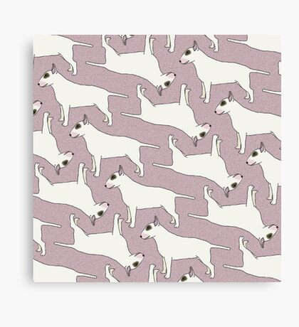 Bull Terrier pattern Canvas Print