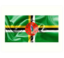 Dominica Flag Art Print