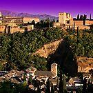 Alhambra de Granada by airon