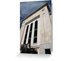 Entering Yankee Stadium Greeting Card