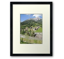 Somewhere between Zurich and Innsbruck Framed Print