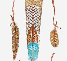 Feather Fan Native Style by ChubbyMermaid