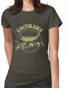 Everglades National Park in green Womens Fitted T-Shirt