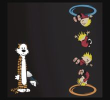 calvin and hobbes teleport  Kids Clothes