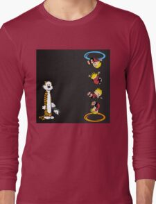 calvin and hobbes teleport  Long Sleeve T-Shirt