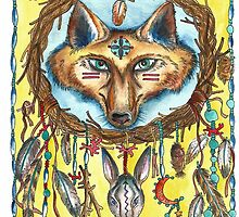 Fox and Hare Dreamcatcher by ChubbyMermaid