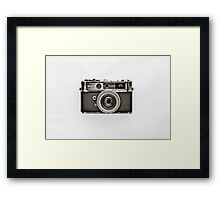 YASHICA_Black and White Framed Print