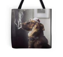 """Alex"" the Smoking Police Dog Tote Bag"