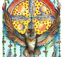 Owl Dream Catcher by ChubbyMermaid