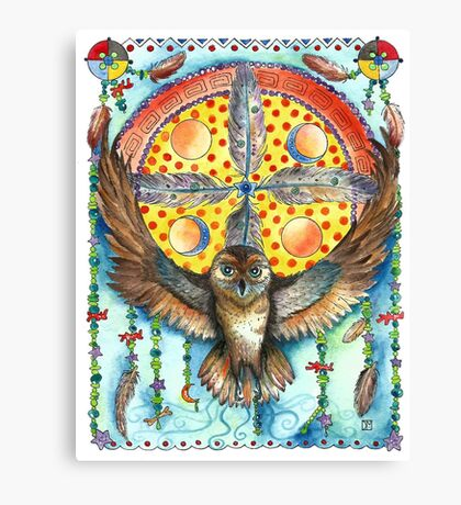 Owl Dream Catcher Canvas Print