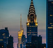 Chrysler Building At Sunset by Chris Lord