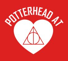 HARRY POTTER - POTTERHEAD AT HEART V.2 White by thischarmingfan