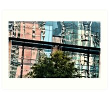 A Second Look Up From City Hall Plaza ~ Austin, Texa Art Print