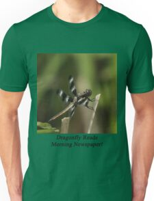 Dragonfly Reads Morning Newspaper T-Shirt