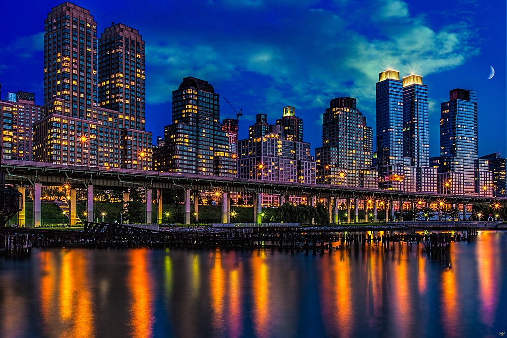 The West Side Highway At Dusk by Chris Lord