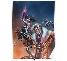 Psylocke vs Sabretooth Poster