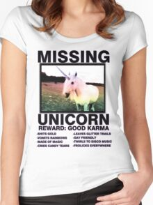 Missing unicorn Women's Fitted Scoop T-Shirt