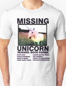 Missing unicorn Unisex T-Shirt