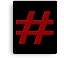#Hashtag Canvas Print