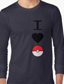 I Heart Pokemon Long Sleeve T-Shirt