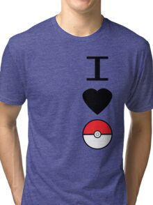 I Heart Pokemon Tri-blend T-Shirt