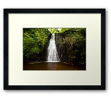Falling Foss Waterfall Framed Print