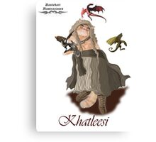 Game of Thrones Khatleesi /Cat Daenerys Illustration Canvas Print
