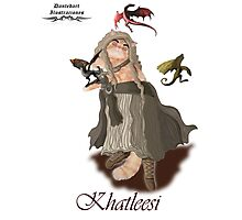 Game of Thrones Khatleesi /Cat Daenerys Illustration Photographic Print