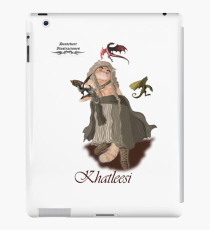 Game of Thrones Khatleesi /Cat Daenerys Illustration iPad Case/Skin
