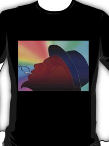 Portrait of Thelonious Monk Colorful Silhouette Smoking  T-Shirt