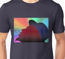 Portrait of Thelonious Monk Colorful Silhouette Smoking  Unisex T-Shirt