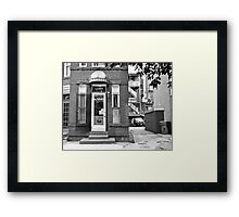Street Cleaner Framed Print