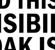 Harry Potter  - Invisibility Cloak Malfunction Sticker