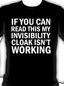 Harry Potter  - Invisibility Cloak Malfunction [Dark Edition] T-Shirt