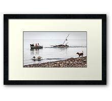 Returning From The Firewood Forage Framed Print