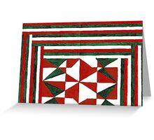 Abstract Art Study Christmas Memories Greeting Card