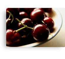 A Bowl Of Cherries Canvas Print