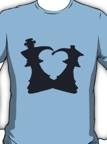Black King and Queen Forming a Heart T-Shirt