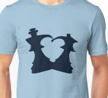 Black King and Queen Forming a Heart Unisex T-Shirt