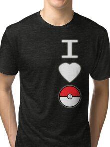 I Heart Pokemon (for dark backgrounds) Tri-blend T-Shirt