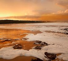 Orange Sunset at Merimbula by Pauline Tims
