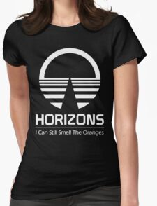 Horizons - I Can Still Smell The Oranges (All White Design) Womens Fitted T-Shirt