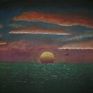 Ocean Sunset by C.A. Rowe