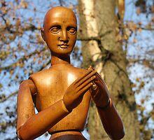 Gustaf the Wooden Man - Philosopher by Shari Rucker