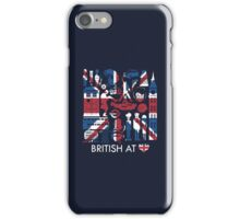 British at heart iPhone Case/Skin