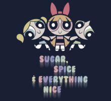 Powerpuff Girls Pastel Ingredients Kids Tee