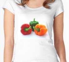 Three Bell Peppers Women's Fitted Scoop T-Shirt