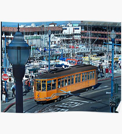 """""""San Francisco's historic cable car lines"""" Poster"""