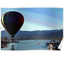 Hot Air Ballon Landing  Poster